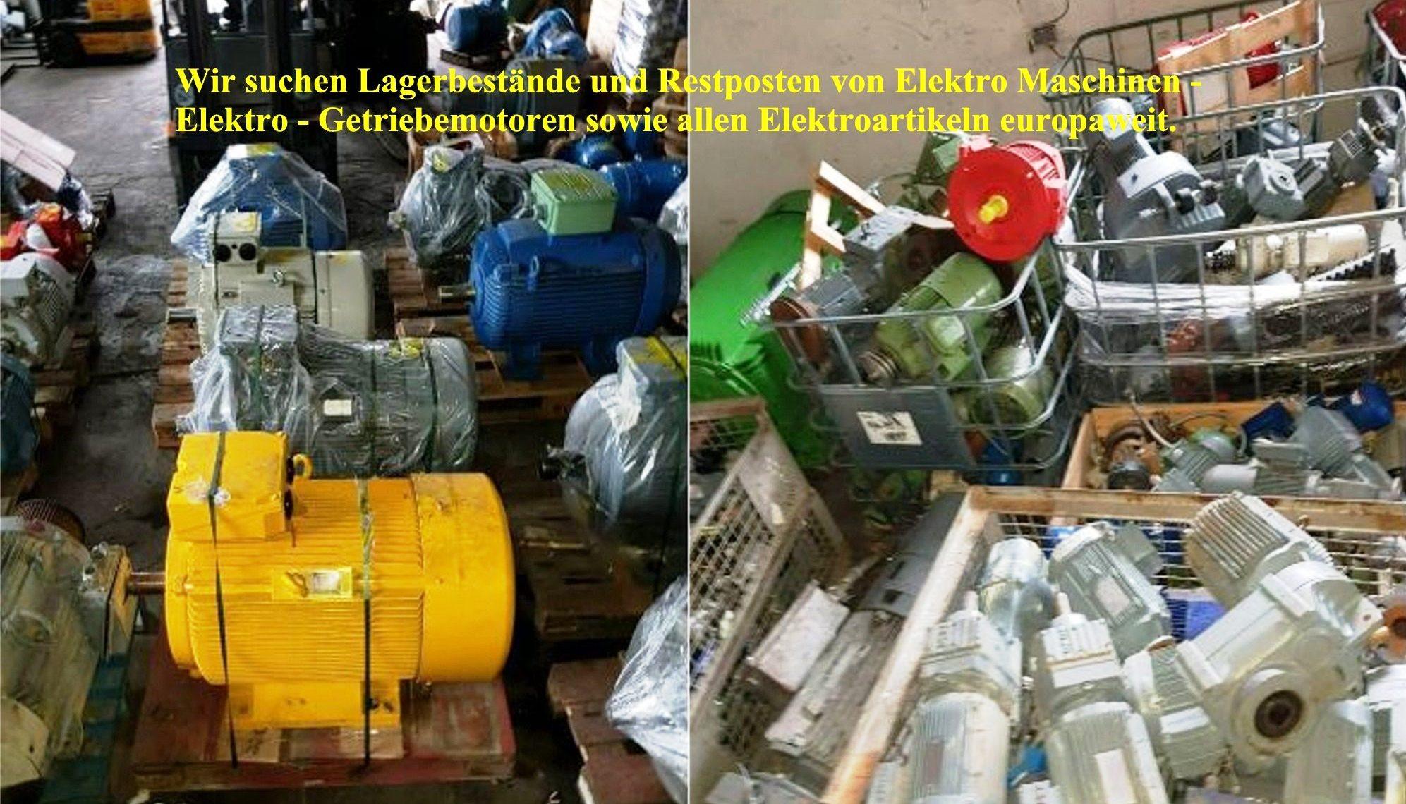 Ankauf Elektromotoren neu, gebraucht und defekt. Ankauf Lagerbestände + Restposten europaweit 0160 80 68 211